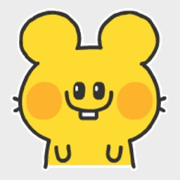 Dull yellow mouse Sticker