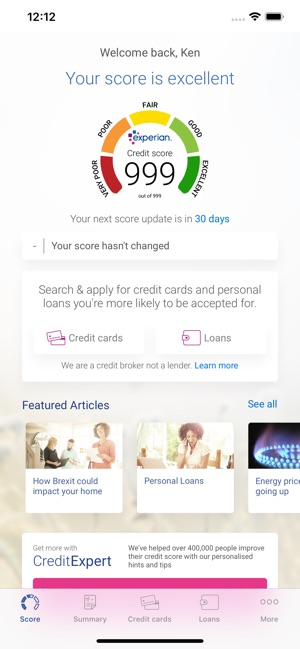 experian credit score on the app store rh apps apple com