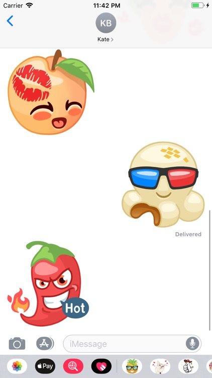 Fruit and Vegetables Stickers screenshot-5