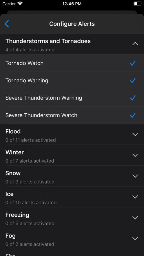 NOAA Weather Radar App 截图