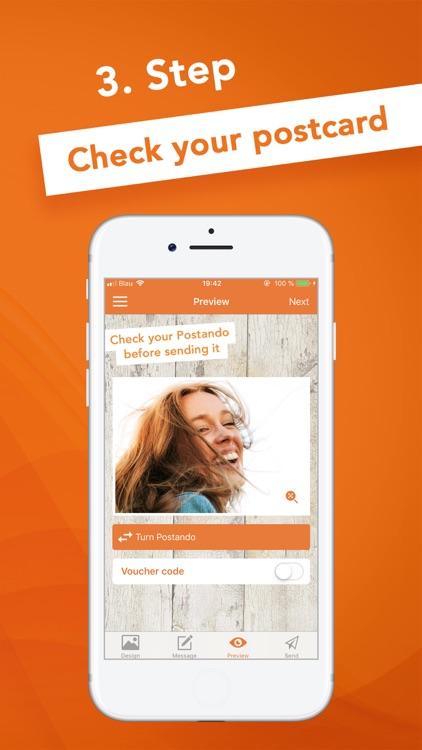 Postando Photo Postcard App screenshot-4