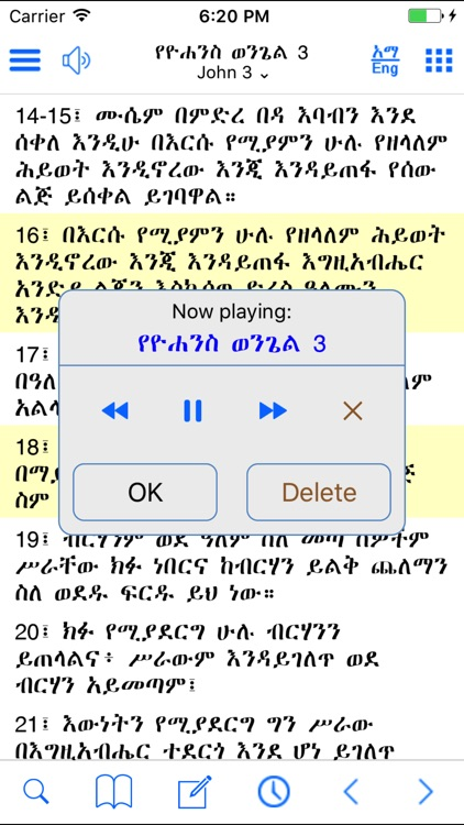 Amharic Bible with ASV,KJV,WEB screenshot-4