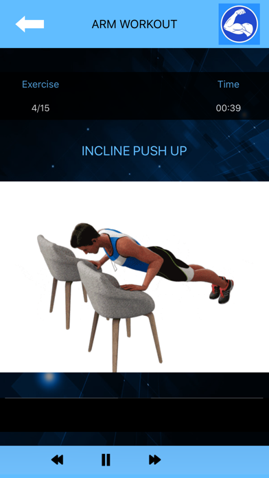 Arm Workout at Home with music screenshot 2