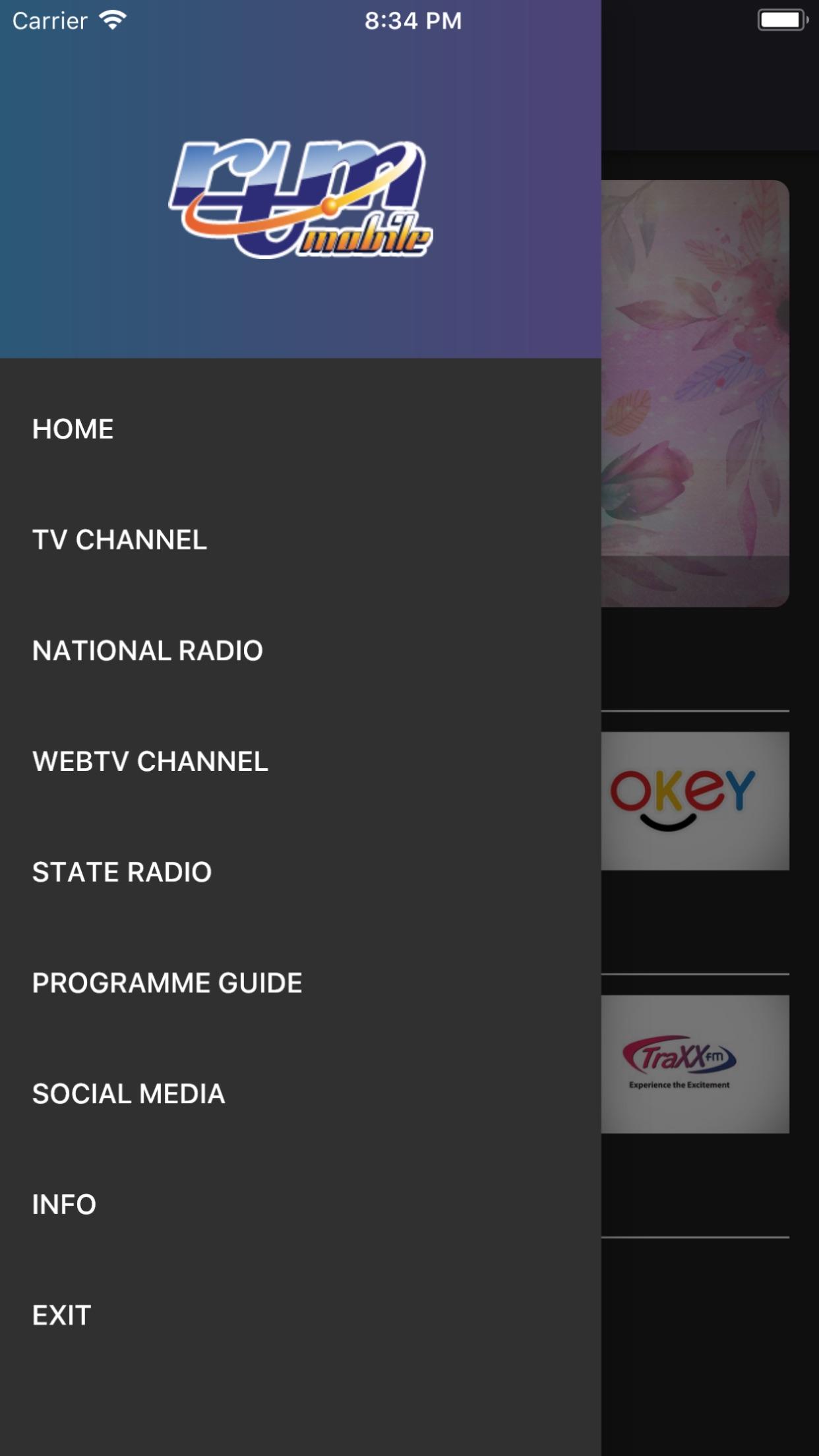 RTM Mobile Screenshot