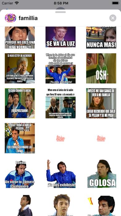 Stickers de la Familia Peluche app image