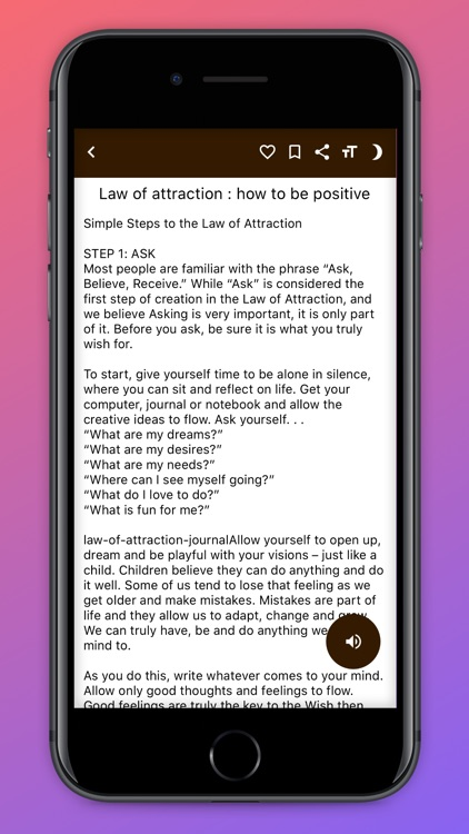 Law Of Attraction Guide. screenshot-4