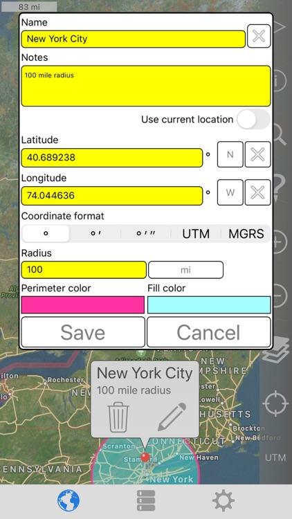 Radius on Map Full Version