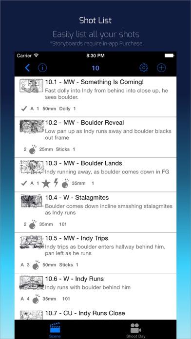 Shot Lister review screenshots