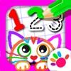 学数字: 宝宝画画游戏小孩子学习画图3-6岁儿童游戏