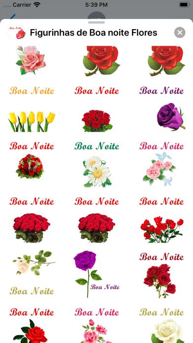 Figurinhas de Boa noite Flores screenshot 5