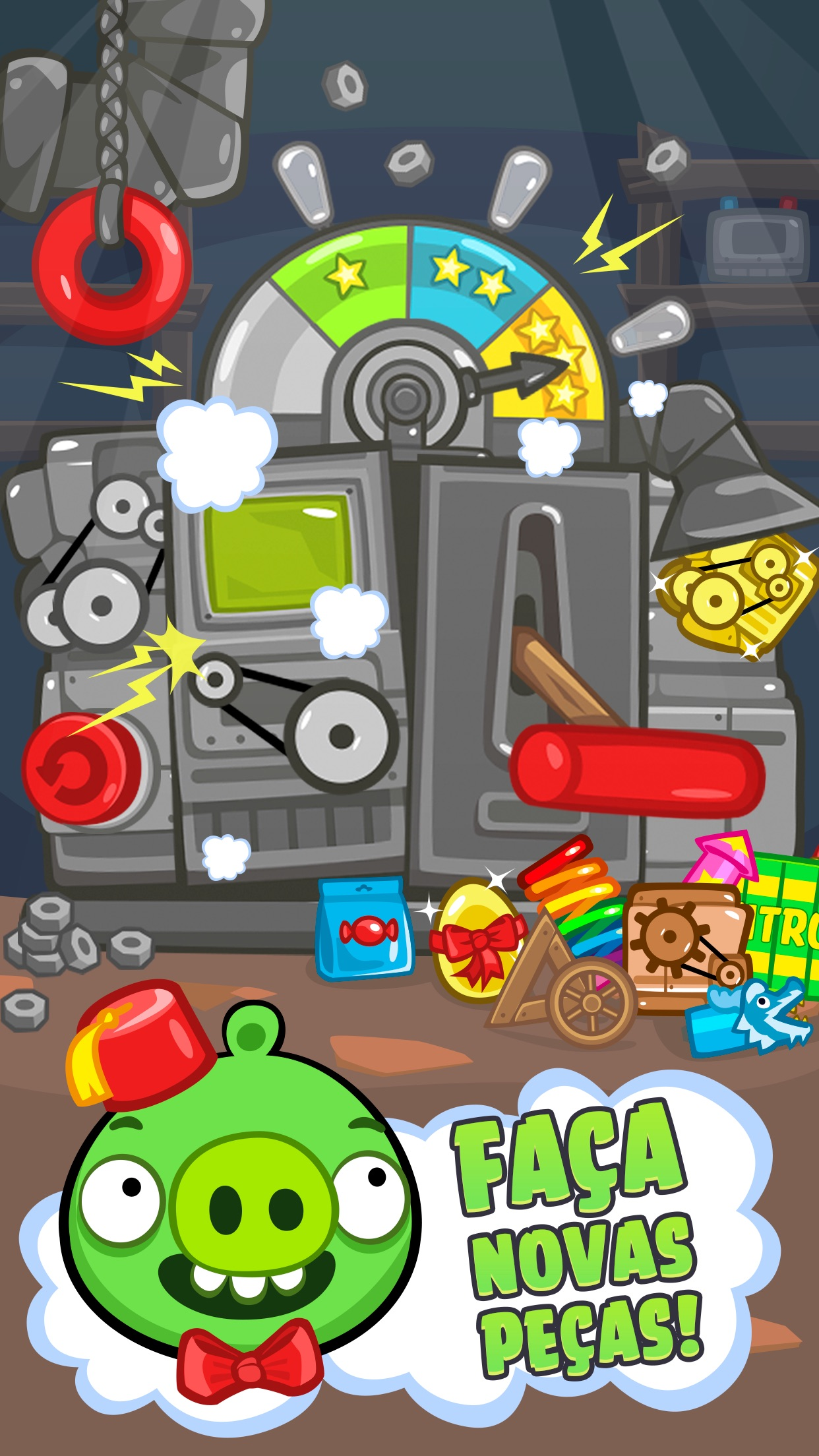 Screenshot do app Bad Piggies