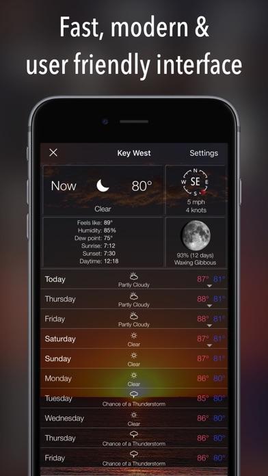 10 Day NOAA Weather iphone ekran görüntüleri