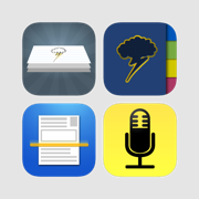 Digital Notes Plus Pack: Notebooks, index cards, voice recorder, scanner, PDFs & more