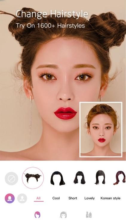 Face Makeup&HairStyles Changer screenshot-8