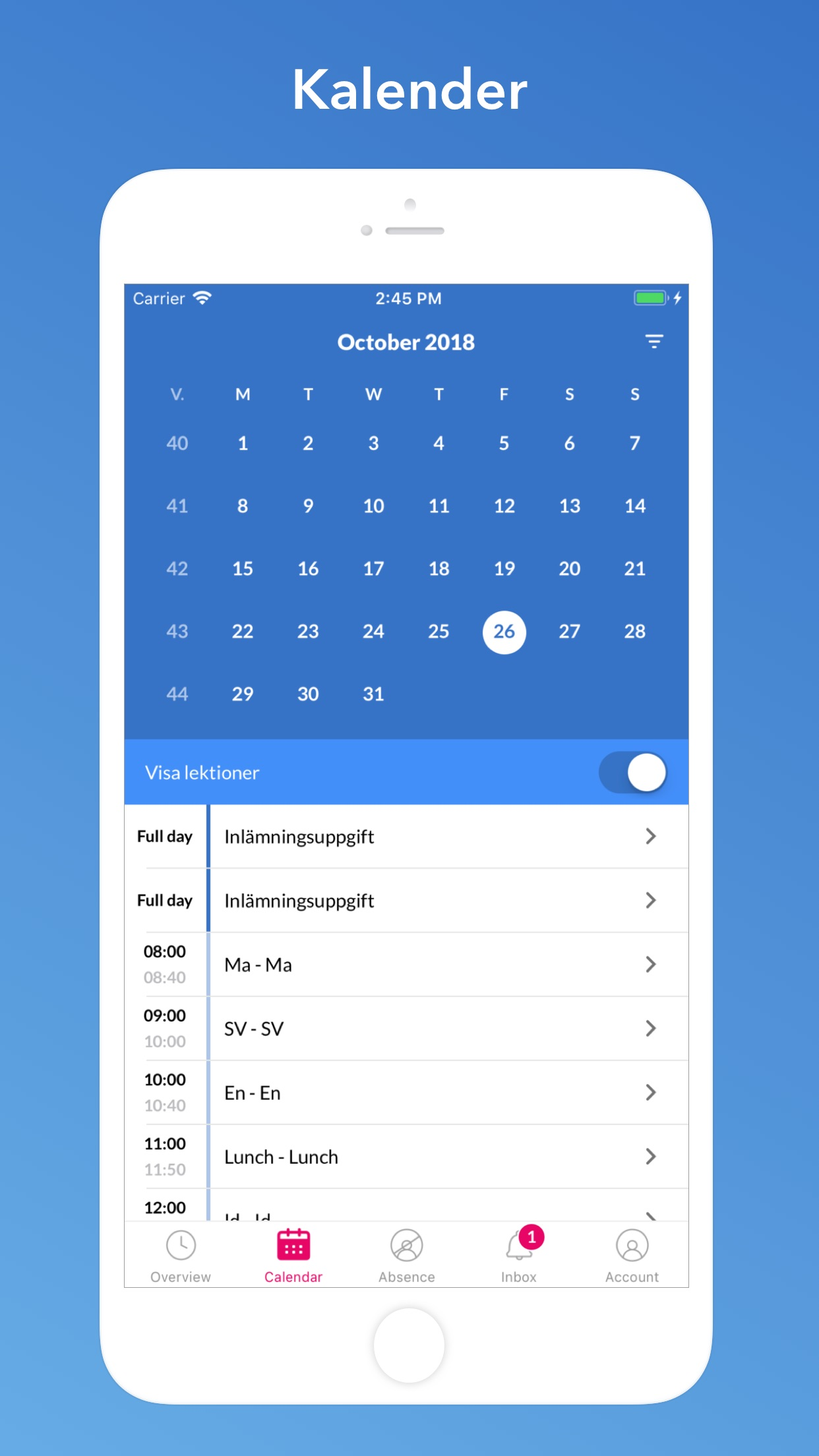 SchoolSoft Screenshot