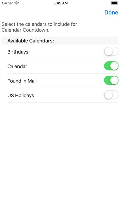 Cal Countdown screenshot-4