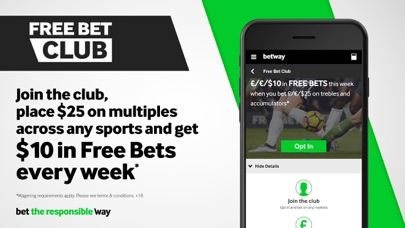Screenshot for Betway Sports: Live Betting in Canada App Store