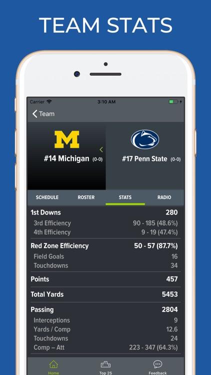 Michigan Football Schedules screenshot-4