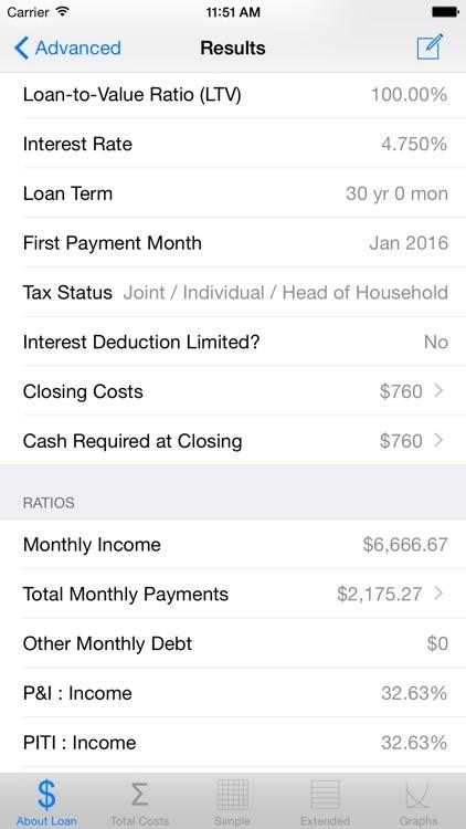 Loan Calculator & Tax Savings screenshot-4