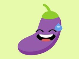 eggplant fruit emoji stickers