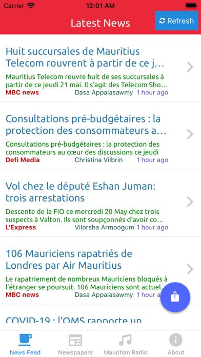 Mauritius News and Radio screenshot one