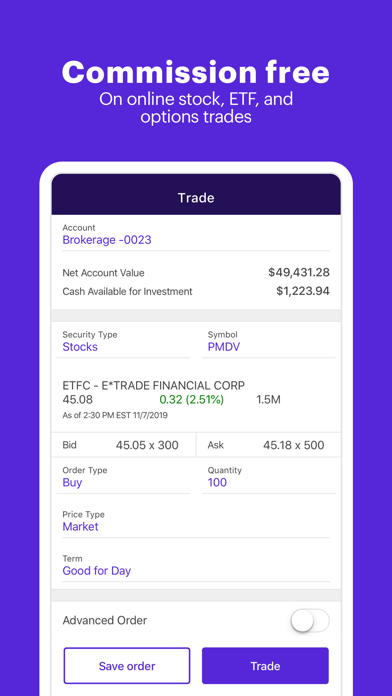 E*trade review screenshots