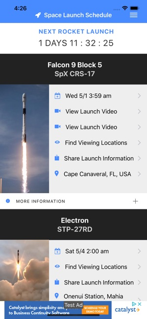 Space Launch Schedule on the App Store
