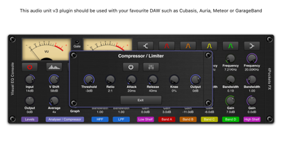 Visual EQ Console AUv3 Plugin screenshot 3