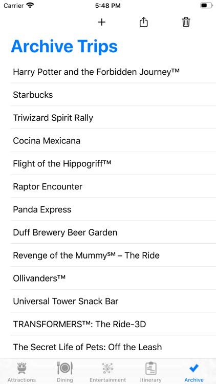 ThemePark Checklist: Hollywood screenshot-4