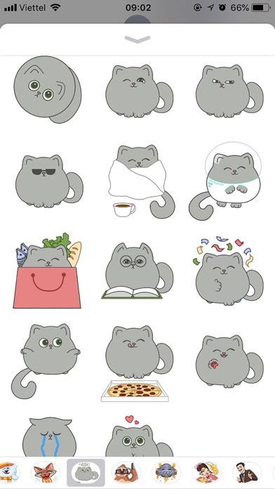 Cute Cat Emoji Funny Stickers screenshot 3