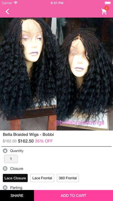 Bella Braided Wigs screenshot four