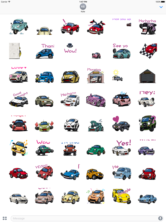 Animated Funny Car Sticker screenshot 5