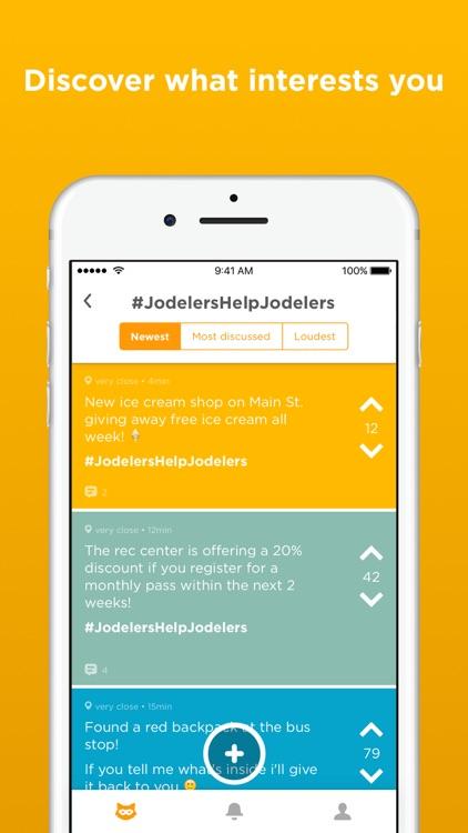 Jodel - Hyperlocal Community screenshot-4