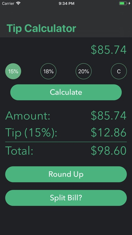 Simple Tip Calculator $