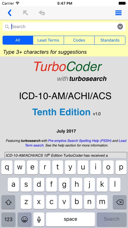 ICD-10-AM TurboCoder, Tenth.