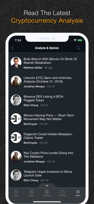 how to get notifications for cryptocurrencies price change