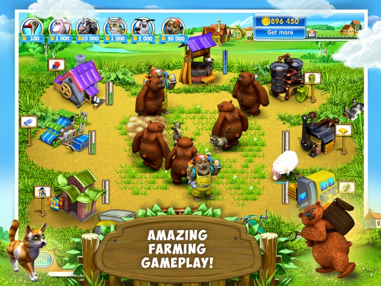 Farm Frenzy 3: Village HD screenshot-4