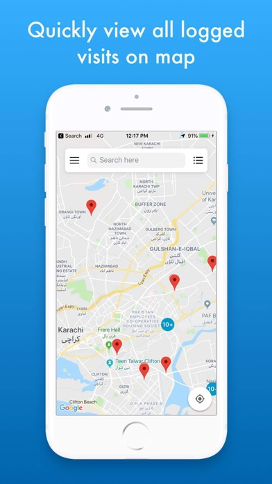MZVisits - Travelling tracker screenshot 1