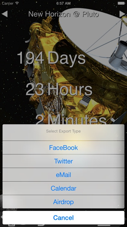 Countdown to an Event