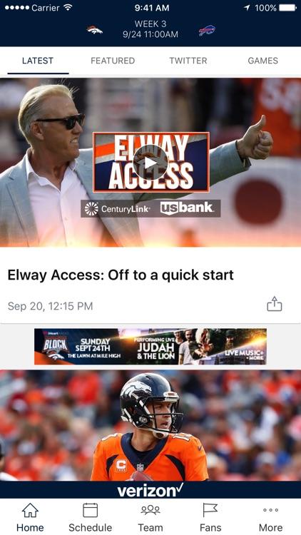 Denver Broncos 365 screenshot-3