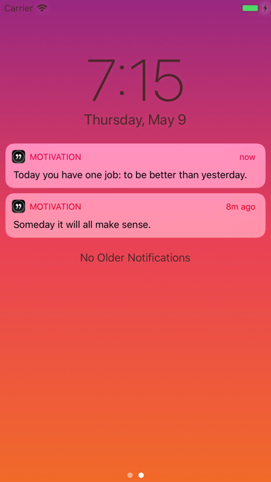 Screenshot for Motivation - Daily quotes in Canada App Store