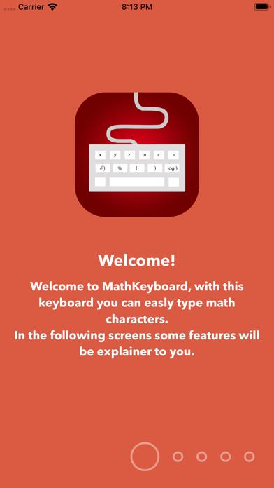 Screenshot #1 pour Math Keyboard