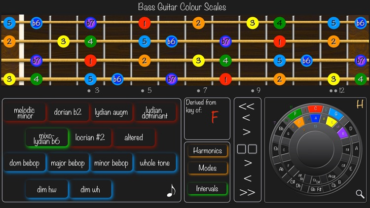 Bass Guitar Colour Scales screenshot-3
