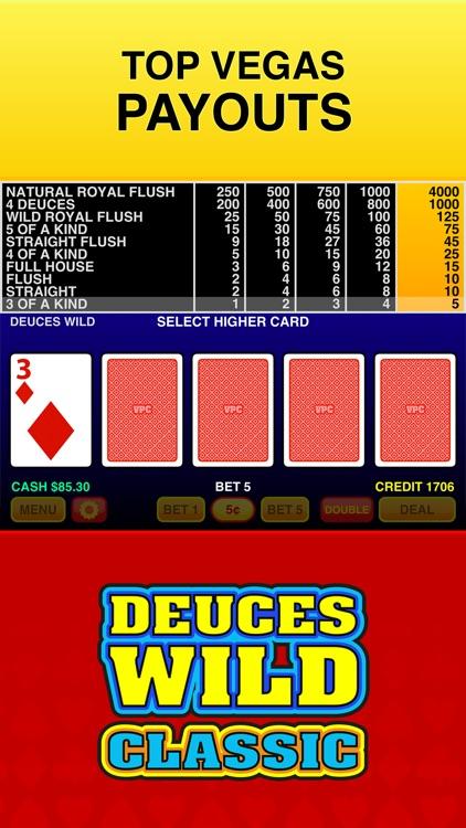 Deuces Wild Casino Video Poker screenshot-4