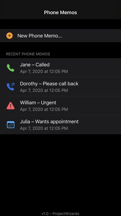 Phone Memos screenshot-3