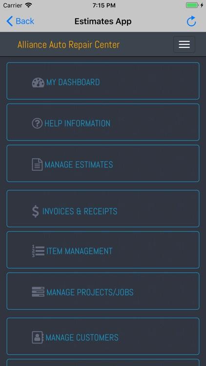 Estimates App