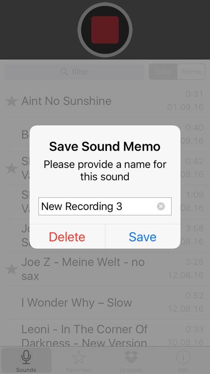 Sound Memos