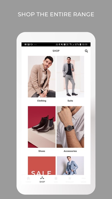 Burton Menswear London screenshot two