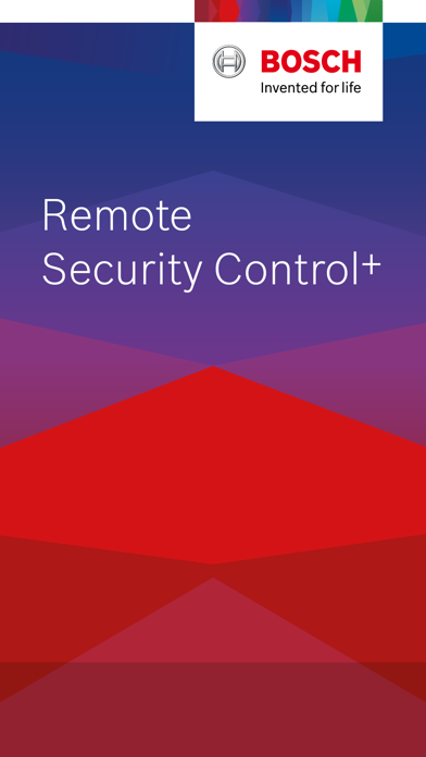 Bosch Remote Security Control+ screenshot one