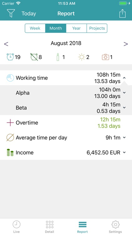 aXTimes Pro - time tracking screenshot-3